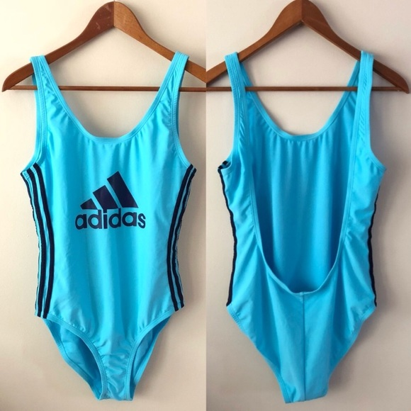 3d52a857ea NWT Adidas Retro Low Back One Piece Swimsuit